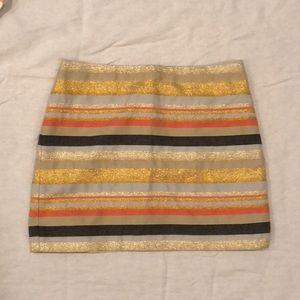 J. Crew Metallic Skirt
